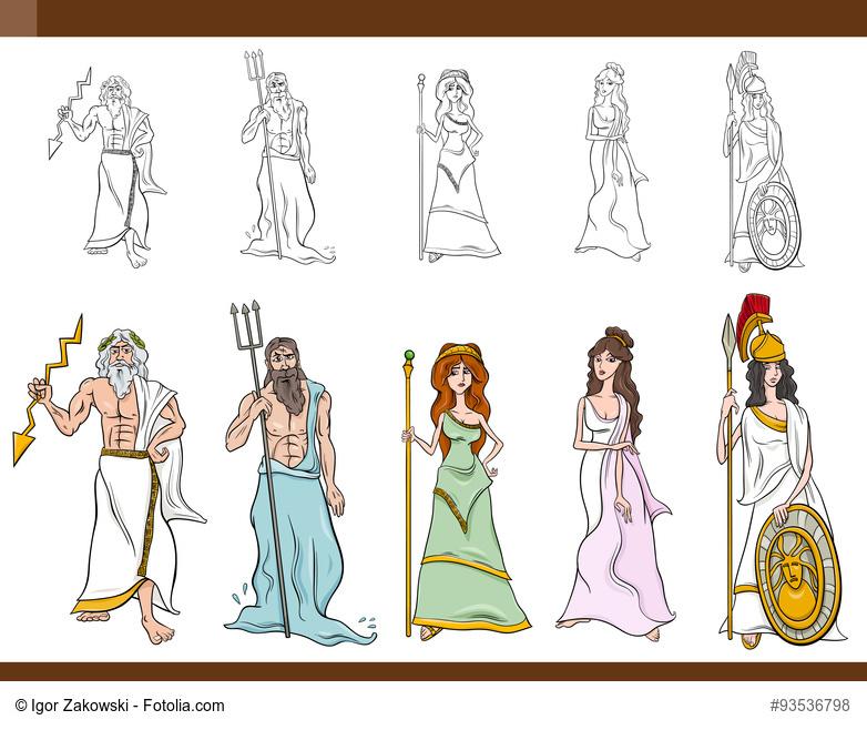 Fünf Götter und Göttinnen aus der griechischen Mythologie